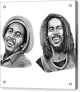 Bob And Bob Marley Acrylic Print