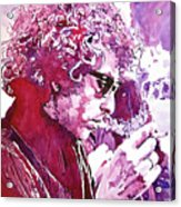 Bob Dylan Acrylic Print by David Lloyd Glover