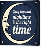 Bob Dylan Song Lyrics Quotes Art Typography Acrylic Print