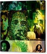 Bob Marley Acrylic Print by Ankeeta Bansal