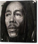 Bob Marley Drawing Acrylic Print