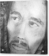 Bob Marley Pencil Portrait Acrylic Print