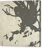 Bob Marley Grey Acrylic Print