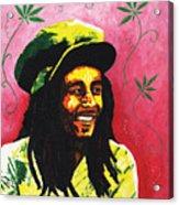 Bob Marley Acrylic Print by Kristi L Randall