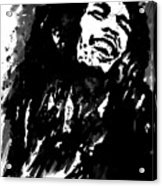 Bob Marley Silhouette   Acrylic Print