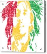 Bob Marley Typography  Acrylic Print by Jimi Bush