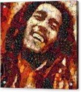 Bob Marley Vegged Out Acrylic Print