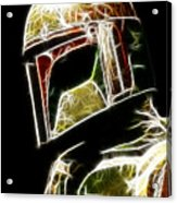 Boba Fett Acrylic Print by Paul Ward
