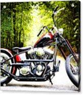 Bobber Harley Davidson Custom Motorcycle Acrylic Print
