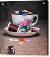 Bobbin And Buttons Acrylic Print