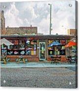 Bobs Downtown Diner Front Door Acrylic Print