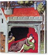 Boccaccio: Lovers, C1430 Acrylic Print