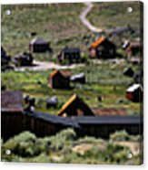 Bodie Ghost Town Panorama Acrylic Print
