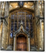 Bodleian Library Door - Oxford Acrylic Print by Yhun Suarez