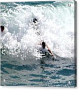 Body Surfing The Ocean Waves Acrylic Print