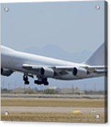 Boeing 747-8kzf N6009f Mesa Gateway Airport June 10 2011 Acrylic Print