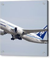 Boeing 787-8 N787za Mesa Gateway Airport November 11 2011 Acrylic Print