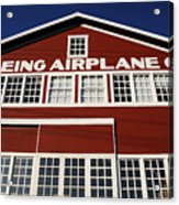 Boeing Airplane Hanger Number One Acrylic Print
