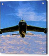 Boeing B-52 Stratofortress Oil Acrylic Print