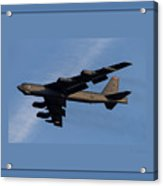 Boeing B-52 Stratofortress Taking Off From Tinker Air Force Base Oklahoma With Quadruple Border Acrylic Print