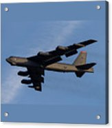 Boeing B-52 Stratofortress Taking Off From Tinker Air Force Base Oklahoma With Double Border Acrylic Print