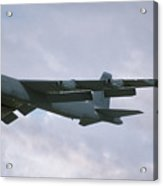 Boeing B-52g Stratofortress 58-0214 93rd Bomb Wing Castle Afb September 17 1992  Acrylic Print