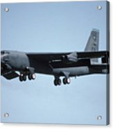 Boeing B-52g Stratofortress 58-0258 93rd Bomb Wing Castle Afb September 17 1992 Acrylic Print