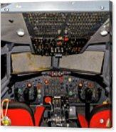 Boeing C-135 Cockpit Acrylic Print
