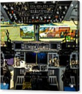 Boeing C-17 Globemaster IIi Cockpit Acrylic Print