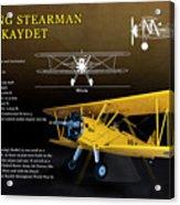 Boeing Stearman N2s Kaydet Acrylic Print