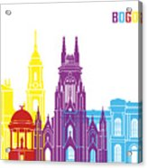 Bogota Skyline Pop Acrylic Print