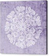 Boho Floral Mandala 1- Art By Linda Woods Acrylic Print