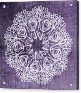 Boho Floral Mandala 2- Art By Linda Woods Acrylic Print