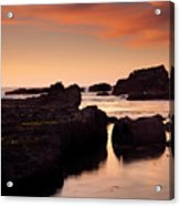 Boiler Bay Sunset Acrylic Print