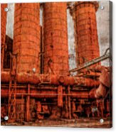 boilers at Sloss Acrylic Print