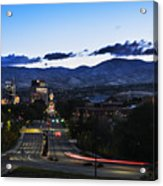 Boise Skyline In Early Morning Hours Acrylic Print
