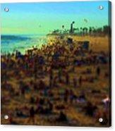 Bokeh Beach Acrylic Print