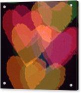 Bokeh Hearts 1 Acrylic Print