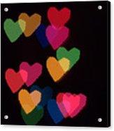 Bokeh Hearts 2 Acrylic Print