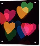 Bokeh Hearts 3 Acrylic Print