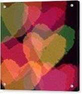 Bokeh Hearts 4 Acrylic Print