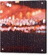 Bokeh - Rainy Night On Mercer Street Acrylic Print