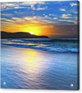 Bold And Blue Sunrise Seascape Acrylic Print