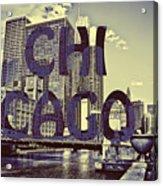 Bold Chicago Acrylic Print