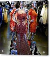 Bold Mannequins Fashion Display In Palma Majorca Spain Acrylic Print