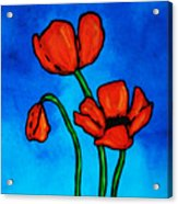 Bold Red Poppies - Colorful Flowers Art Acrylic Print