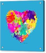 Bold Watercolor Heart - Tee Shirt Design Acrylic Print