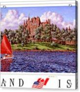 Boldt's Castle Poster Acrylic Print
