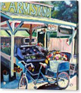 Bolinas Farmstand Bike Acrylic Print by Colleen Proppe