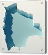 Bolivia Simple Intrusion Map 3d Render Acrylic Print